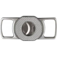 Passatore kétujjas szivar vágó nemesacél, ezüst színű carbon mintával - TIE Advanced x1