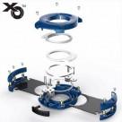 Xikar XO szivarvágó dupla pengés kék 26mm - 70-es szivar gyűrű méret