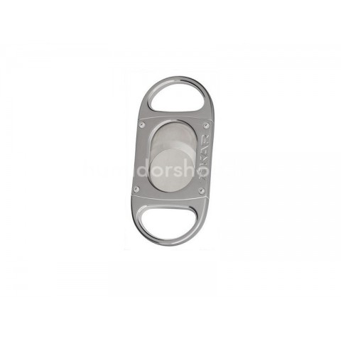 Xikar M8 Chrome Silver dupla pengés guillotine szivarvágó fém vázzal, nagy méretű szivarokhoz - ezüst