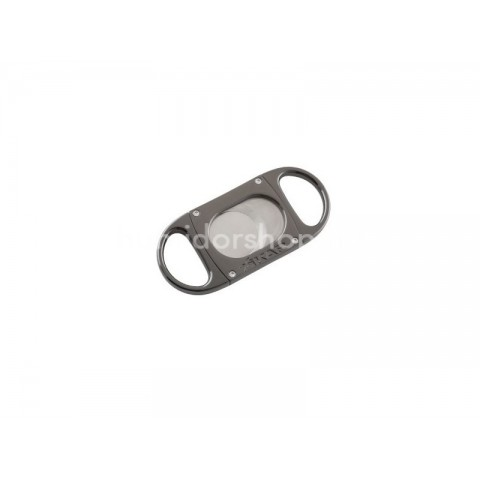 Xikar M8 G2 dupla pengés guillotine szivarvágó fém vázzal, nagy méretű szivarokhoz - szürke