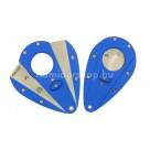 Xikar Xi1 Cutter Blue, dupla pengés pillangó szivarvágó - kék