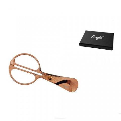Mintás szivarvágó olló 11,5 cm hosszú, vörös arany színű - Angelo